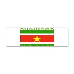 Suriname Car Magnet 10 x 3
