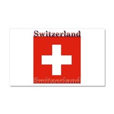 Switzerland Swiss Flag Car Magnet 12 x 20