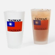 Taiwan Taiwanese Flag Pint Glass
