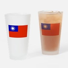 Taiwan Taiwanese Blank Flag Pint Glass