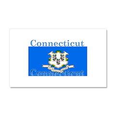 Connecticut State Flag Car Magnet 12 x 20