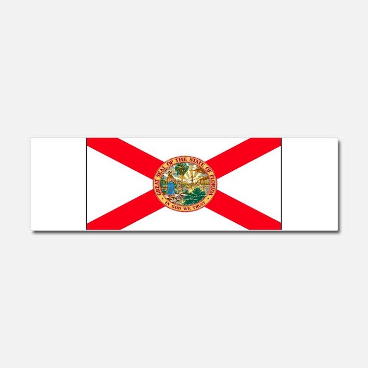 Florida Sunshine State Flag Car Magnet 10 x 3