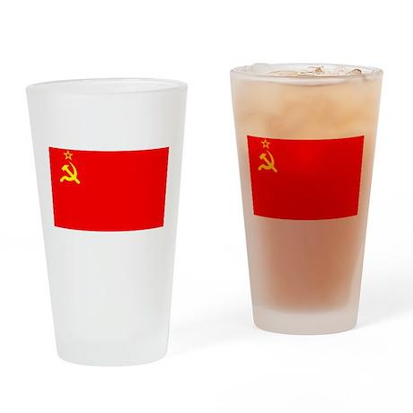 USSR Blank Flag Pint Glass