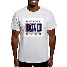 Best Dad Ever Ash Grey T-Shirt