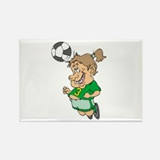 Funny Female Soccer Player Rectangle Magnet