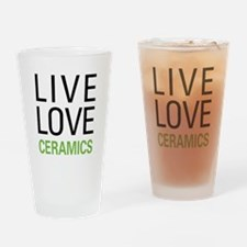 Live Love Ceramics Drinking Glass