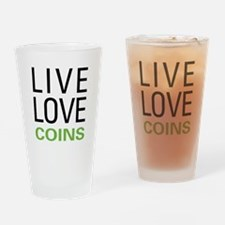Live Love Coins Drinking Glass