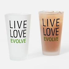Live Love Evolve Drinking Glass