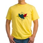 Middle East Crosshairs Yellow T-Shirt