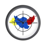Middle East Crosshairs Wall Clock
