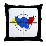 Middle East Crosshairs Throw Pillow