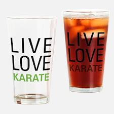 Live Love Karate Pint Glass