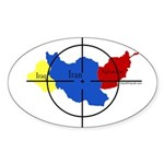 Middle East Crosshairs Oval Sticker
