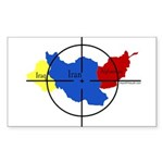 Middle East Crosshairs Rectangle Sticker