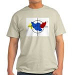 Middle East Crosshairs Ash Grey T-Shirt