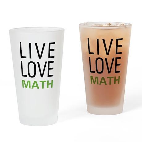 Live Love Math Pint Glass