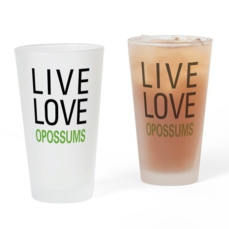 Live Love Opossums Pint Glass