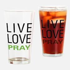 Live Love Pray Pint Glass