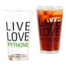 Live Love Pythons Pint Glass