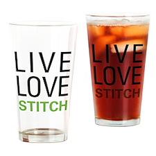 Live Love Stitch Pint Glass