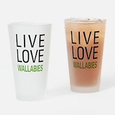 Live Love Wallabies Pint Glass