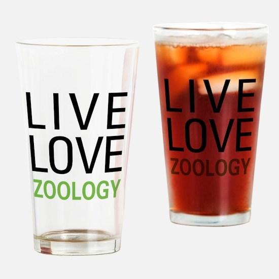 Live Love Zoology Pint Glass