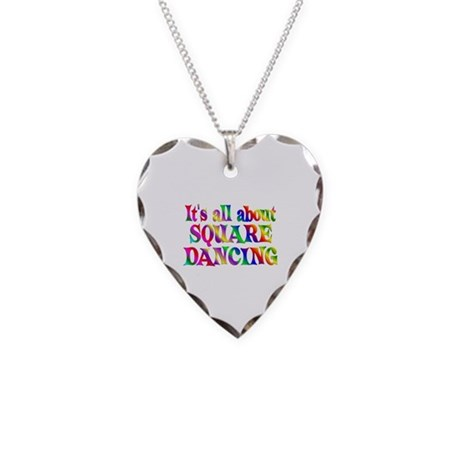 About Square Dancing Necklace Heart Charm