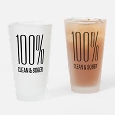 100 Percent Clean and Sober Pint Glass