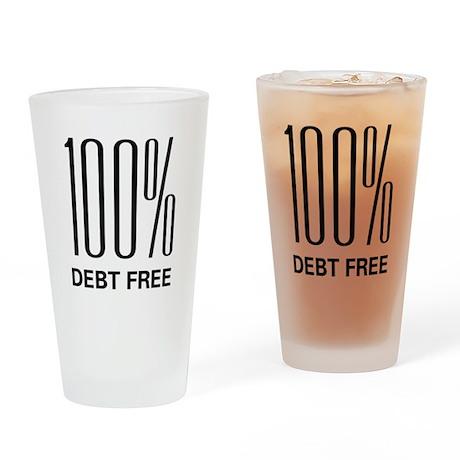 100 Percent Debt Free Pint Glass