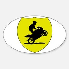 Wheelie Warning Oval Decal