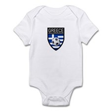 Greece Soccer Patch Infant Bodysuit