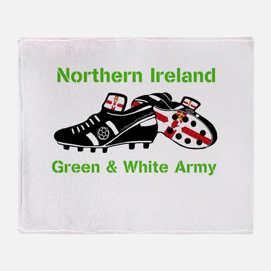 Northern Ireland Football Throw Blanket