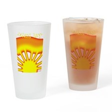 SUNRISE ISLAND RAYS Pint Glass