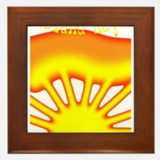 SUNRISE ISLAND RAYS Framed Tile