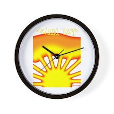 SUNRISE ISLAND RAYS Wall Clock