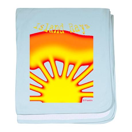 SUNRISE ISLAND RAYS baby blanket