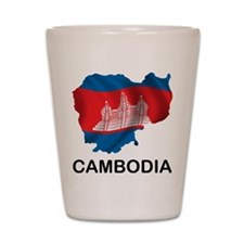 Map Of Cambodia Shot Glass