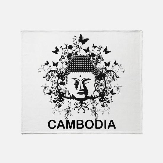 Buddha Cambodia Throw Blanket