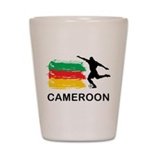 Stylish Cameroon Football Shot Glass
