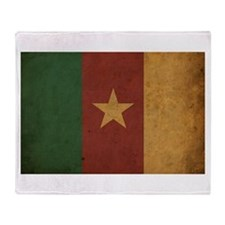 Vintage Cameroon Flag Throw Blanket