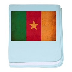 Vintage Cameroon Flag baby blanket