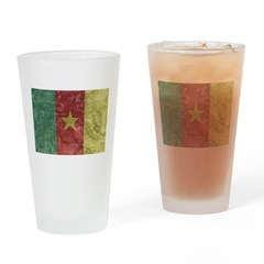 Vintage Cameroon Flag Pint Glass