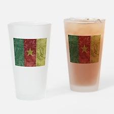 Vintage Cameroon Flag Pint Glass