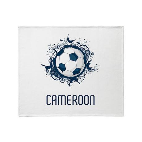 Stylish Cameroon Football Throw Blanket
