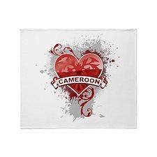 Heart Cameroon Throw Blanket