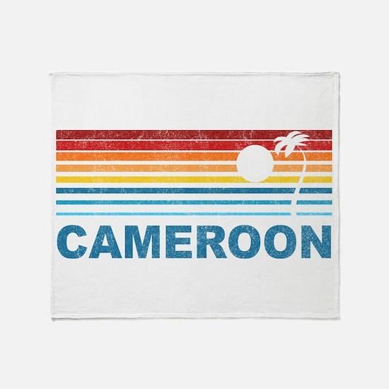Palm Tree Cameroon Throw Blanket