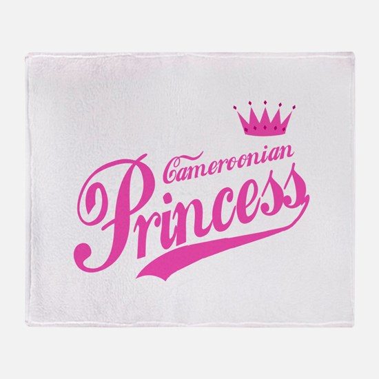 Cameroonian Princess Throw Blanket