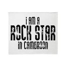 Rock Star In Cameroon Throw Blanket