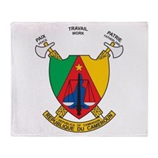 Cameroon Coat Of Arms Throw Blanket
