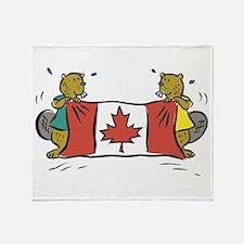 Beaver Canada Throw Blanket